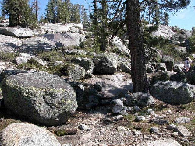 Boulders along Loch Leven Trail