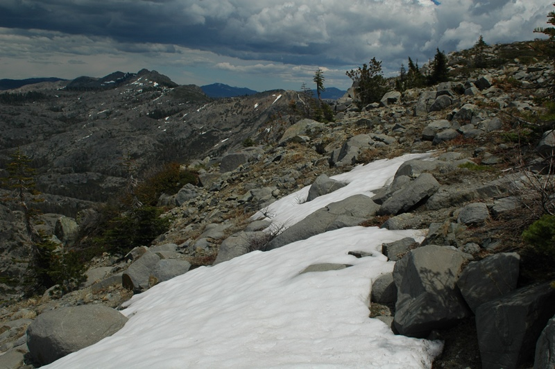 Snow at Grouse Ridge, July 2007